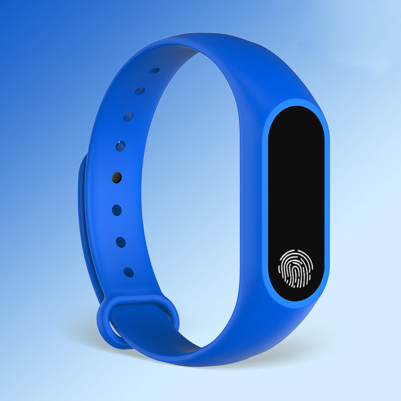 blue finger print watch for men and women