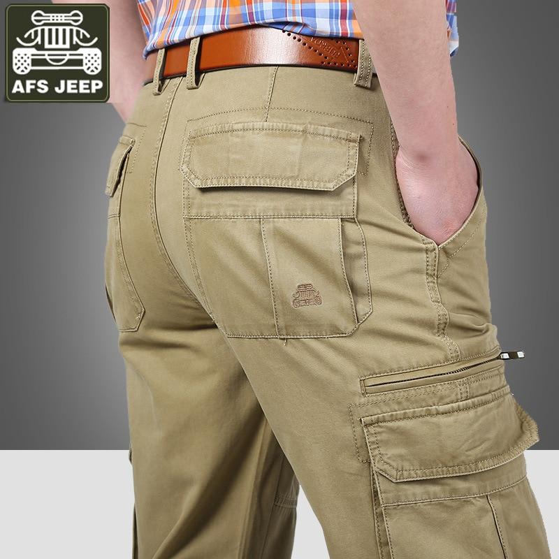 Jungen Kleidung Motiviert Cargo Hosen Männer Taktische Hosen Militär Casual Hosen Männer Reine Baumwolle Gerade Lose Mid-taille Taktische Hosen Großen Größe 30-44