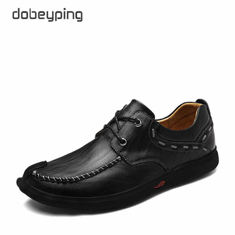 2017 New Men's Casual Shoes 100% Genuine Leather Men Flats Lace-Up Man Loafers Male Business Footwear Moccasins Man Boat Shoes new stylish man shoes lace up round toe comfort breathable shoes for man casual flats loafers chaussure homme free shipping