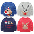 Christmas costumes for girls sweater with deers souvenirs for the new year children pullovers Boy clothing KD001