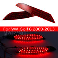 Newest!!! Car Styling 9W DC12V Red Lens LED Rear Brake Light Bumper Reflector Tail Parking Warning Lamp For VW Golf 6 2009-2013