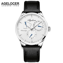 Swiss Agelocer brand fitness watch original design mechanical wristwatch Male Clock Casual Fashion watch power reserve 42 hours