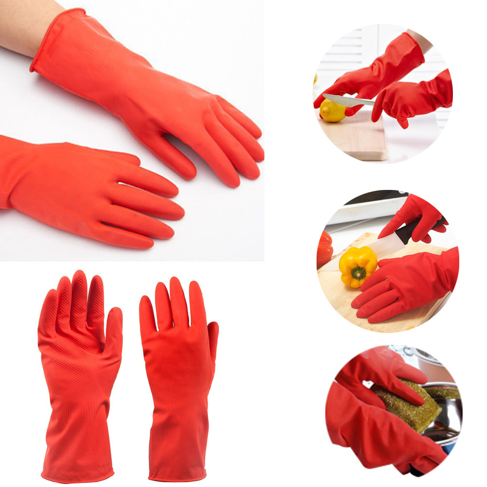 Durable Dishwashing Home Warm Laundry Waterproof Household Cleaning Gloves