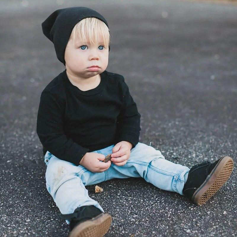 Hot 1PC Baby Cotton Hats Children Hip Hop   Skullies   &   Beanies   Popular Korean Solid Soft Kids Caps