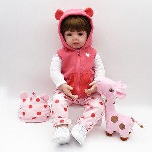Image 2 - NPK Реалистичная коллекция, Спящая детская кукла, силиконовая кукла для тела, кукла симулятор, игрушечный домик, милая кукла 58 см, большой размер