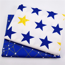 Cotton Fabric Blue Series Fat Quarter Bundles For Home Textile Material Bed Sheet Soft Cloth Quilting Patchwork Tecido