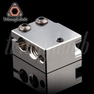 Image 3 - Trianglelab PT100 Volcano Überzogene Kupfer Wärme Block Für E3d Volcano Hotend 3D Drucker Heate Block Für BMG Extruder Titan
