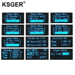 Image 5 - KSGER T12 Soldeerstation V2.0 STM32 OLED Digitale Temperatuur Controller Elektrische Soldeerbouten Stings T12 K B2 BC2 D24 Tips