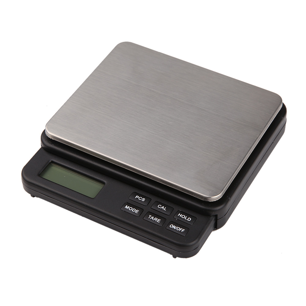 High Precision Digital Scale 1000g / 0.01g Multifunctional Jewelry Herb Pocket Scale Electronic LCD Blue backlit Display Scale Весы