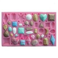 Al por mayor/al por menor, envío libre, Mini molde de la torta del molde de arcilla de polímero en forma de Diamante En Seco