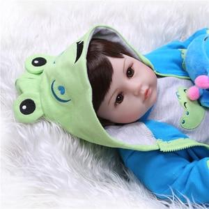 Image 5 - NPK 19Handmade Silikon vinyl entzückende Lebensechte kleinkind Baby Bonecas boy kid bebe puppe reborn menina de silikon