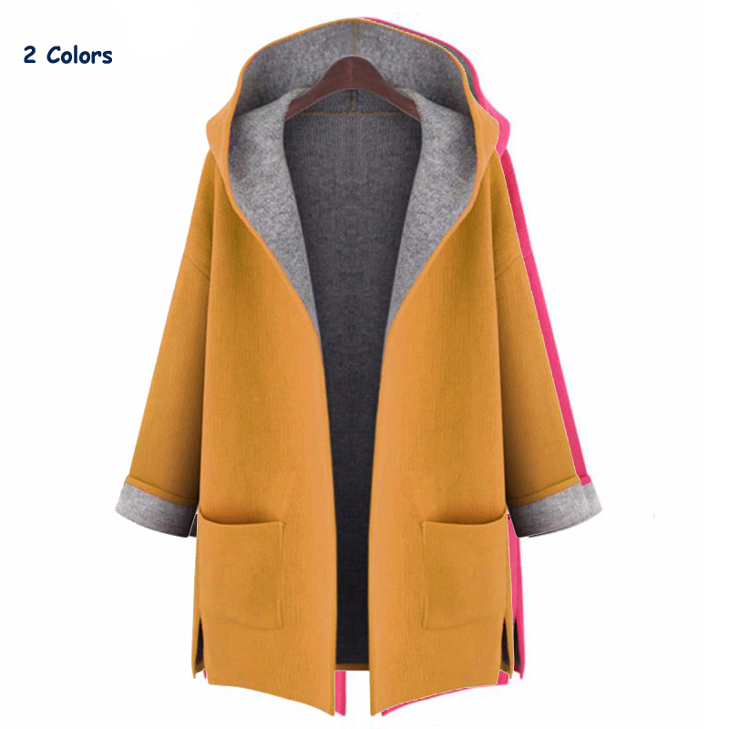 Women's   trench   coat 2018 Spring autumn womens hooded cardigan coats casual ladies outwears fashion   trench   coat free shipping