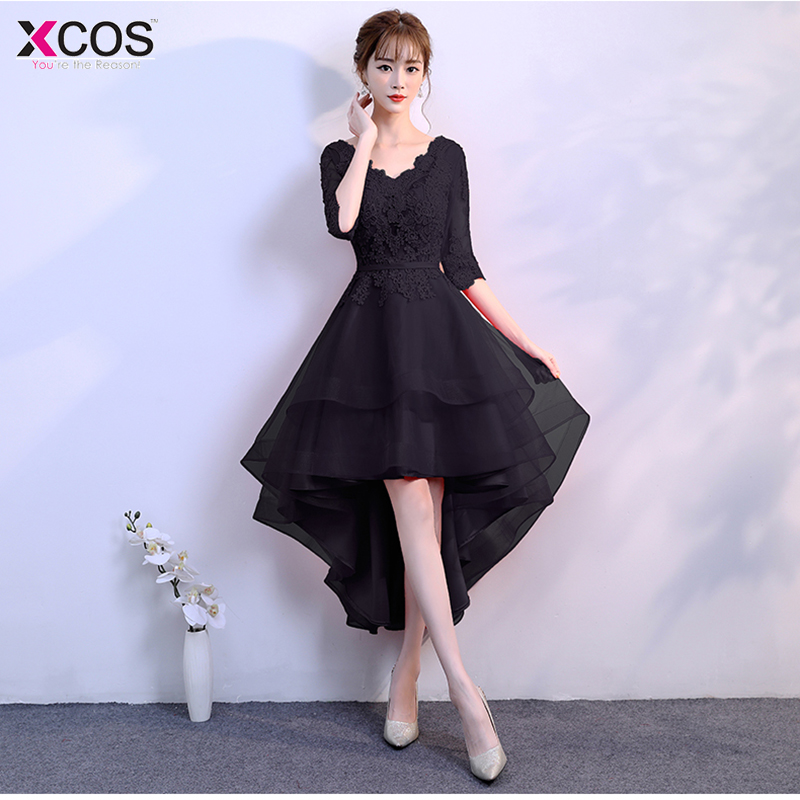 Short   Prom     Dresses   2019 Sexy Black   Prom   Gown Formal   Dress   Women Occasion Party   Dresses   Robe De Soiree