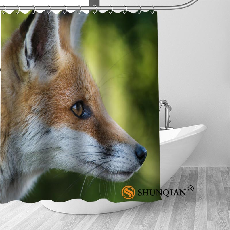 Hot Custom fox Shower Curtains Polyester Bathroom Curtains With Hook Bath Curtain Bathroom Decor