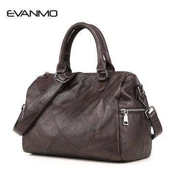 Top Grade Real Cow Leather Ladies Handbag Boston Bag High Quality Designer Luxury Brand Boston Shoulder Bag Women Daily Bag