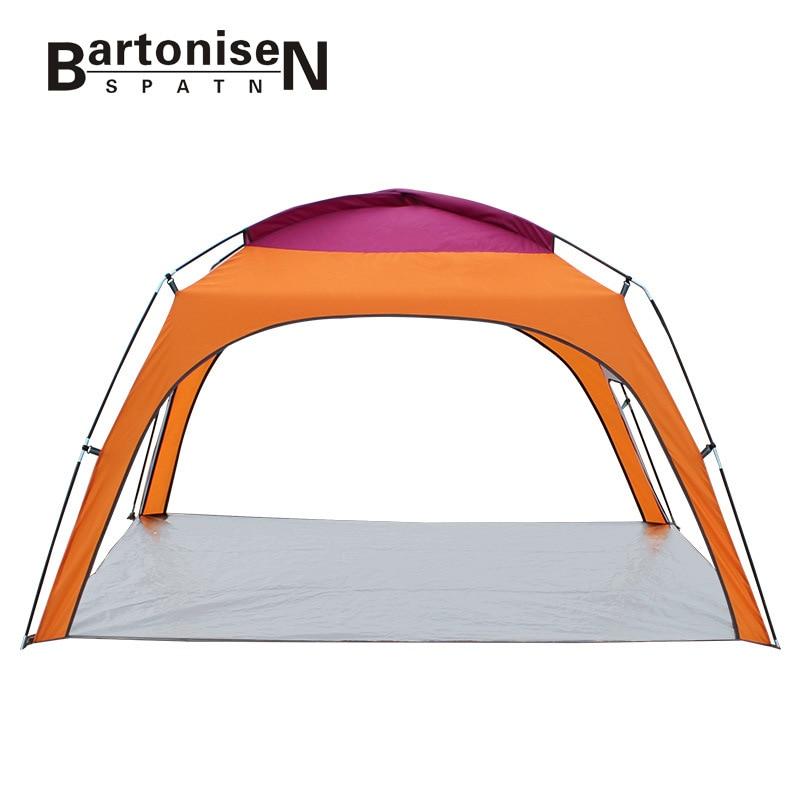 BartoniseN outdoor 3-4 people Beach Tent Camping Tent with bottom Sunscreen Rainproof Canopyspecial offer 1019 outdoor camping tent 3 4 beach tent camping tent single summer mosquito children play tent