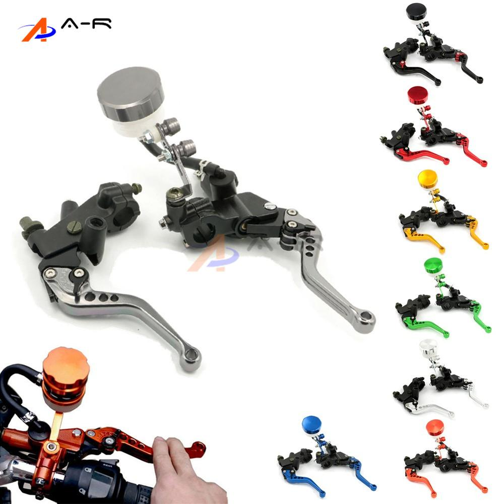 Motorcycle 7/8 22MM Adjustable Brake Clutch Levers Master Cylinder Fluid Reservoir for YAMAHA YZF R1 FZ6 FAZER MT-07 MT-09 universal motorcycle brake fluid reservoir clutch tank oil fluid cup for mt 09 grips yamaha fz1 kawasaki z1000 honda steed bone