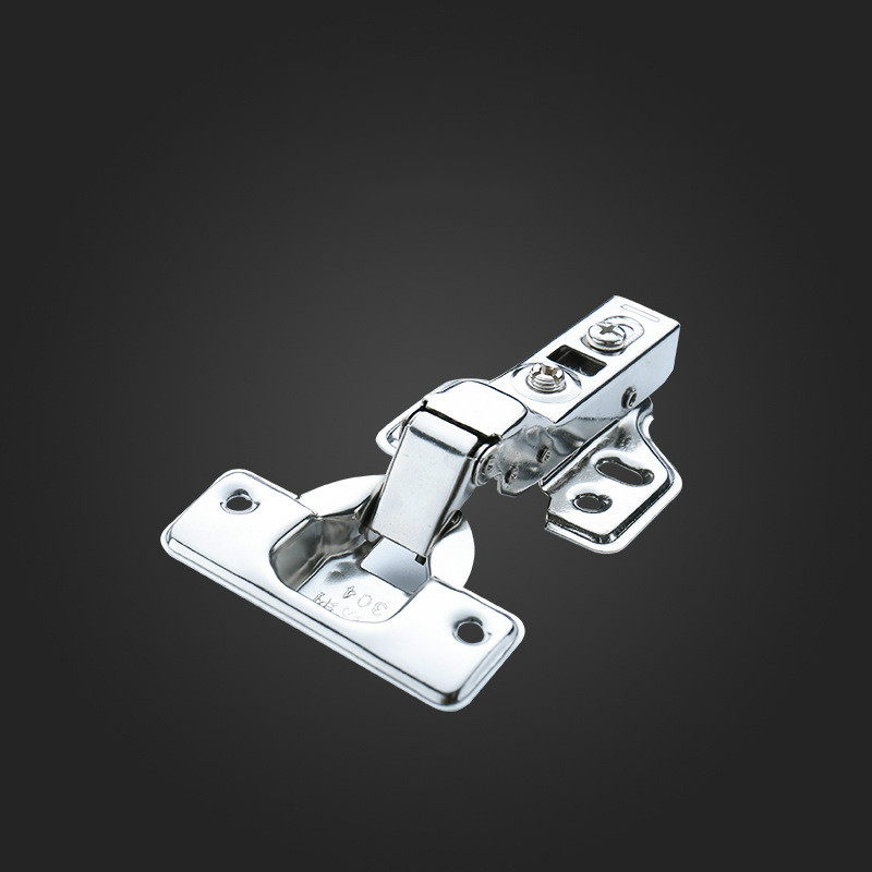 1 Pcs/set New Cabinet Door Hinge, Detachable Fixed Hydraulic Buffer Silent Furniture Hardware Stainless Steel 1.5mm Hinge
