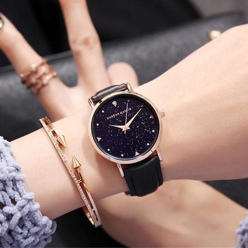 Hannah Martin Starry Sky Watch Women Watches Luxury Diamond Women's Watches Top Brand Ladies Watch Reloj Mujer Relogio Feminino