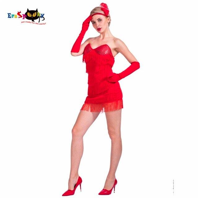 Sexy red flapper dress