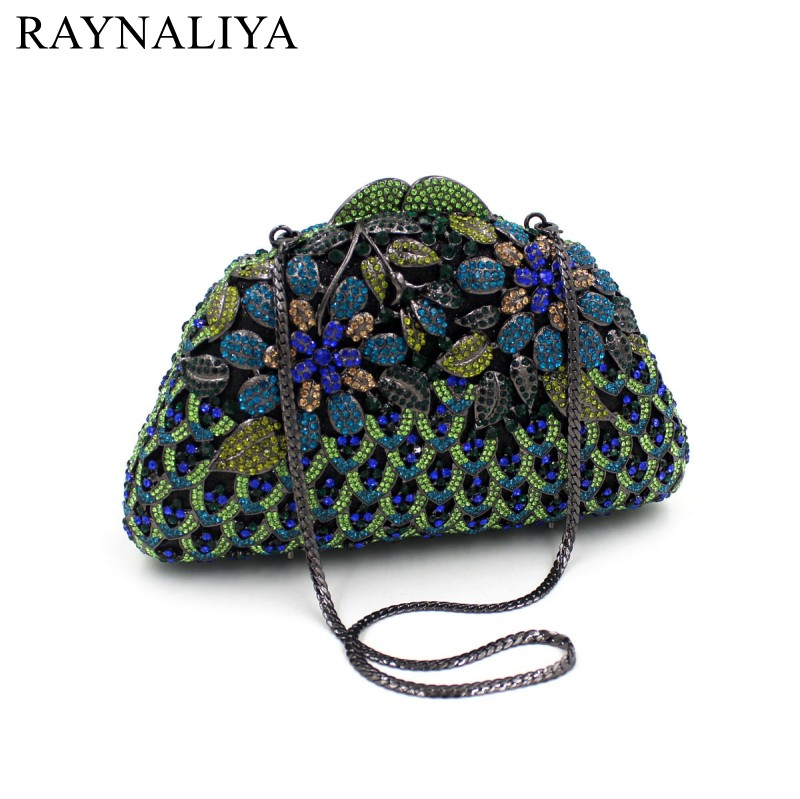Elegant Evening Dress Bag Crystal Bling Party Clutch Purse Casual Small Bolsas Femininas Couro With Chian Handbag SMYZH-F0127 мужской ремень cinto couro marca