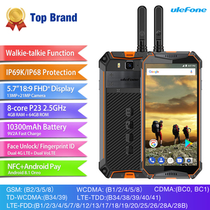 """Image 2 - Ulefone Armor 3T IP68 Waterproof Mobile Phone Android 8.1 5.7"""" FHD+ helio P23 Octa Core 4GB 64GB 21MP  Walkie Talkie Smartphone"""