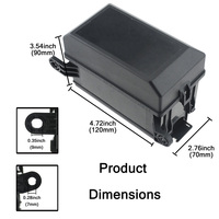 Hot 12 Slot Fuse Relay Box with 12V 40A Relay Fuses for Automotive Marine JLD