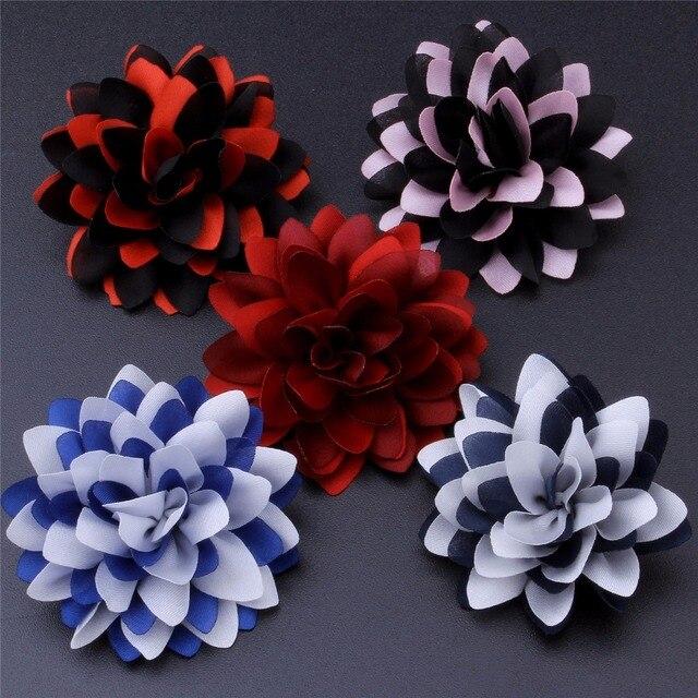 Mixed 5 Farbe Rot Blau Schwarz Rosa Schwarz Revers Draht Blumen ...