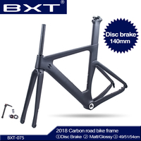 BXT New Carbon Disc Brakes Road Bike Frame Di2 Carbon Fibre Road BSA Frame suitable 700C*28C/30C carbon Disc 140mm free shipping