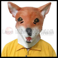 Free shipping Halloween Christmas Party Cosplay Fox Head Mask Full Face Halloween Animal Mask Masquerade Cosplay Party Masks