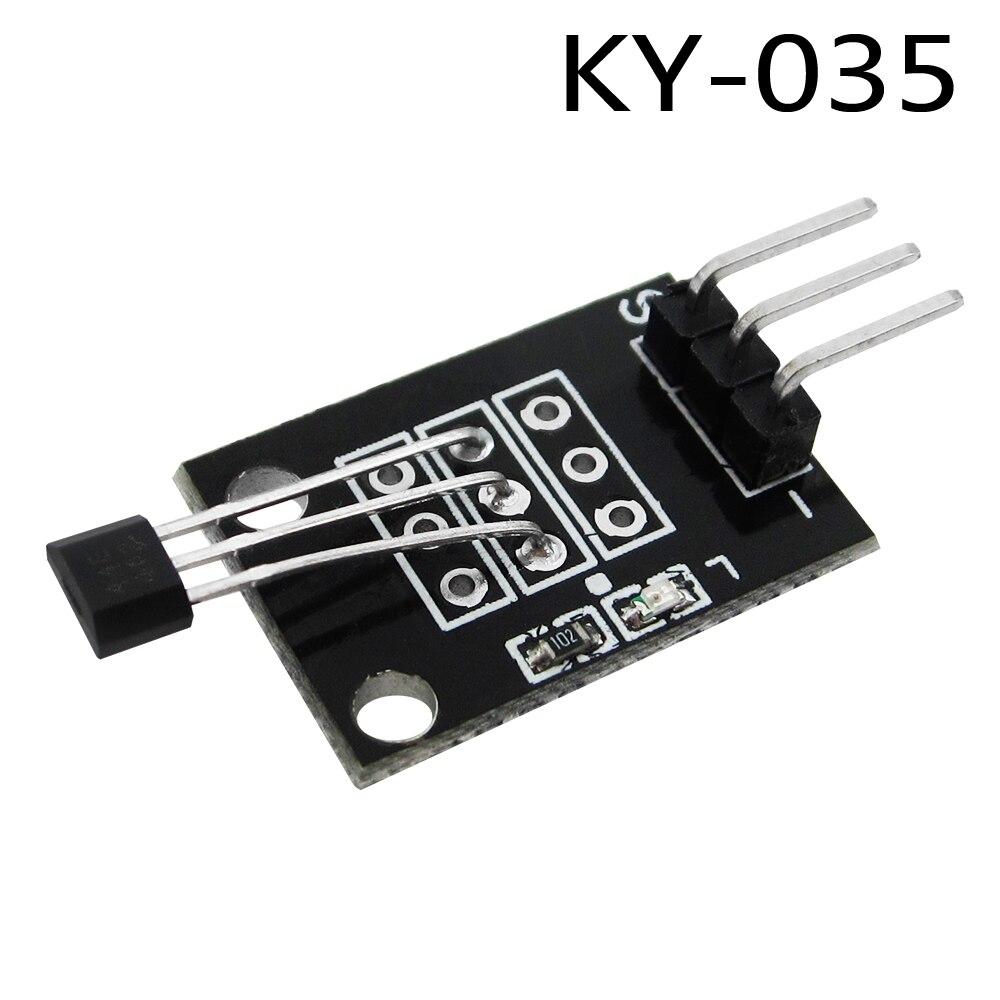 1x 3pin KY-035 klasy Bihor analogowy Hall czujnik magnetyczny moduł zestaw startowy diy KY035