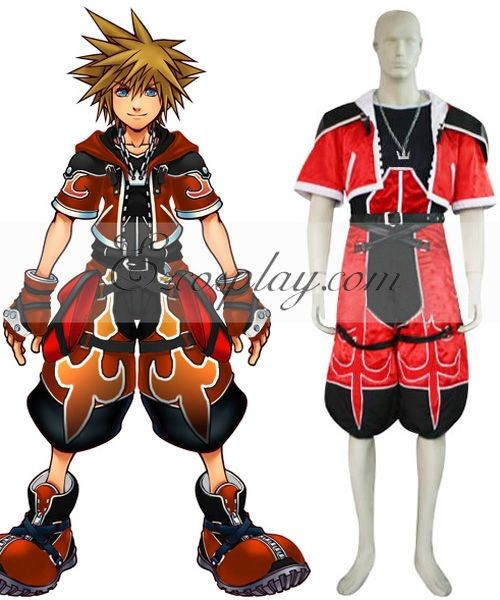 Kingdom Hearts 2 Sora Brave Form Cosplay Costume EKH0009 E001
