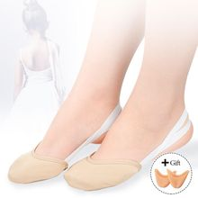 Rhythmic Gymnastics Equipment Soft Half Dance Shoes Girls Socks Knitted Roupa Ginastica Sole Shoes Art Gym Dancing Pads Insoles