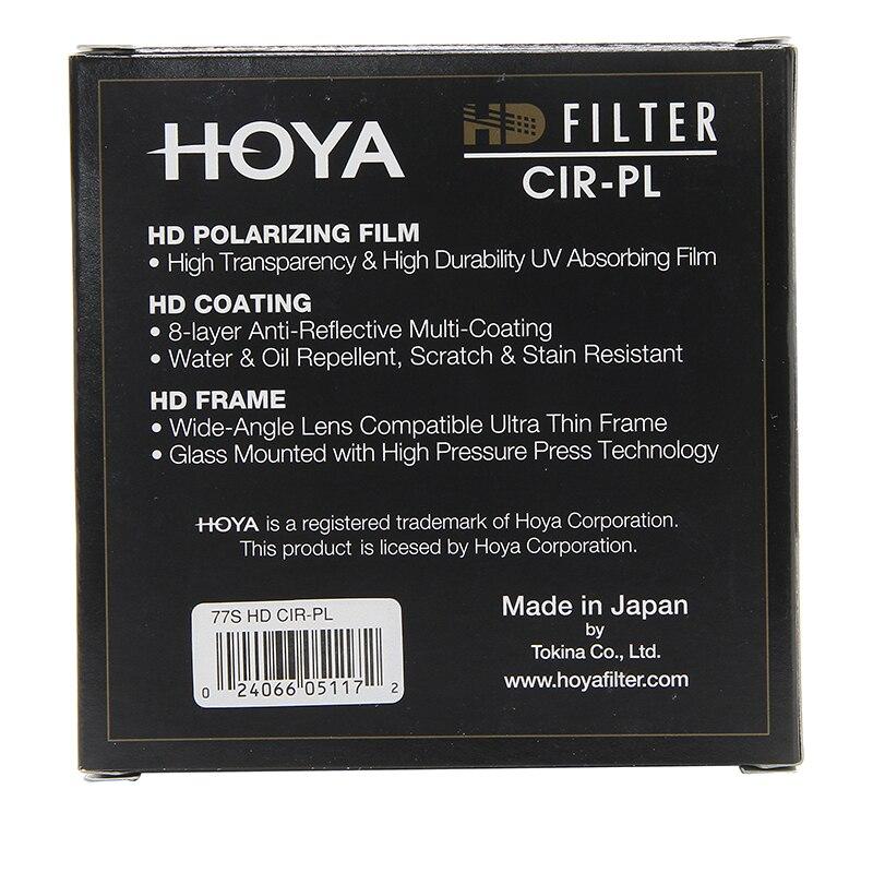 Filtro Hoya HD CPL 58mm 67mm 72mm 77mm 82mm Polarizador Circular HD CIR-PL Delgado polarizador para lentes de cámara hecho en Japón - 6