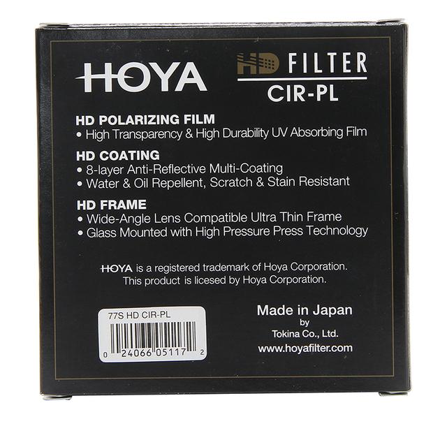 Hoya HD CPL Filter 58mm 67mm 72mm 77mm 82mm Circular Polarizing HD CIR-PL Slim Polarizer For Camera Lens made in JAPAN