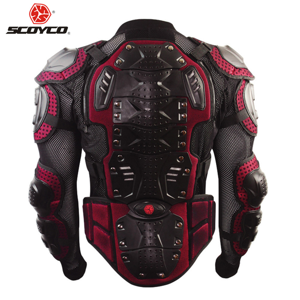 Scoyco Moto armure corporelle Moto Armadura Motocross protecteur Jaqueta Motoqueiro Motocicleta Chaquetas veste de protection armure