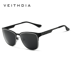 Image 2 - VEITHDIA ماركة نظارات الفولاذ المقاوم للصدأ نظارات شمسية مستقطبة UV400 عدسة الرجال الذكور نظارات للرجال/النساء الأزرق عدسات عاكسة 3580