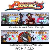 960 In 1 Games Pandora Box 5 Joystick Arcade 2 Players Game Console KOF Stickers Video