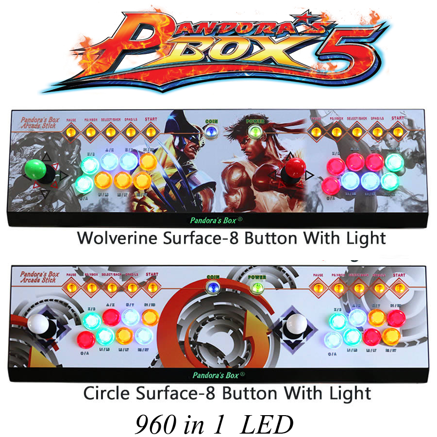 960 in 1 games Pandora Box 5 joystick arcade 2 players game console KOF Stickers Video game HDMI/VGA Video output For TV / PC цена