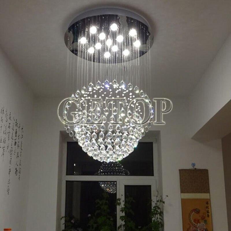 Led Ceiling Light Globe: J New Mordern Globe LED Chandelier K9 Crystal Ceiling Lamp