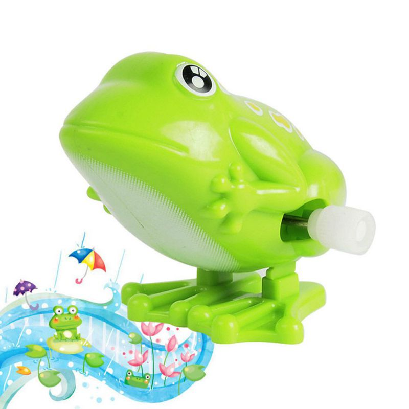 1 Pcs Wind up Jumping Frog Plastic Classic Clockwork Toys ...