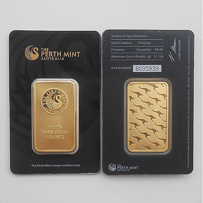 The Perth Mint 1 Oz Troy 99.99% Pure Gold Plated Replica Souvenir Australia High Relief Token Gold Bar, Free Shipping, 1 Pcs