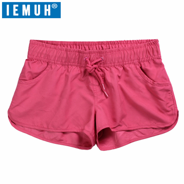 026851b38c IEMUH Quick Dry Womens Swim Shorts Summer Women Board Shorts Surf Swimwear  Beach Short Women Athletic Running Gym Short Women