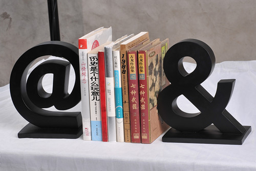 Home fashion vintage bookend desktop small bookcase resin bookend decoration wedding gift
