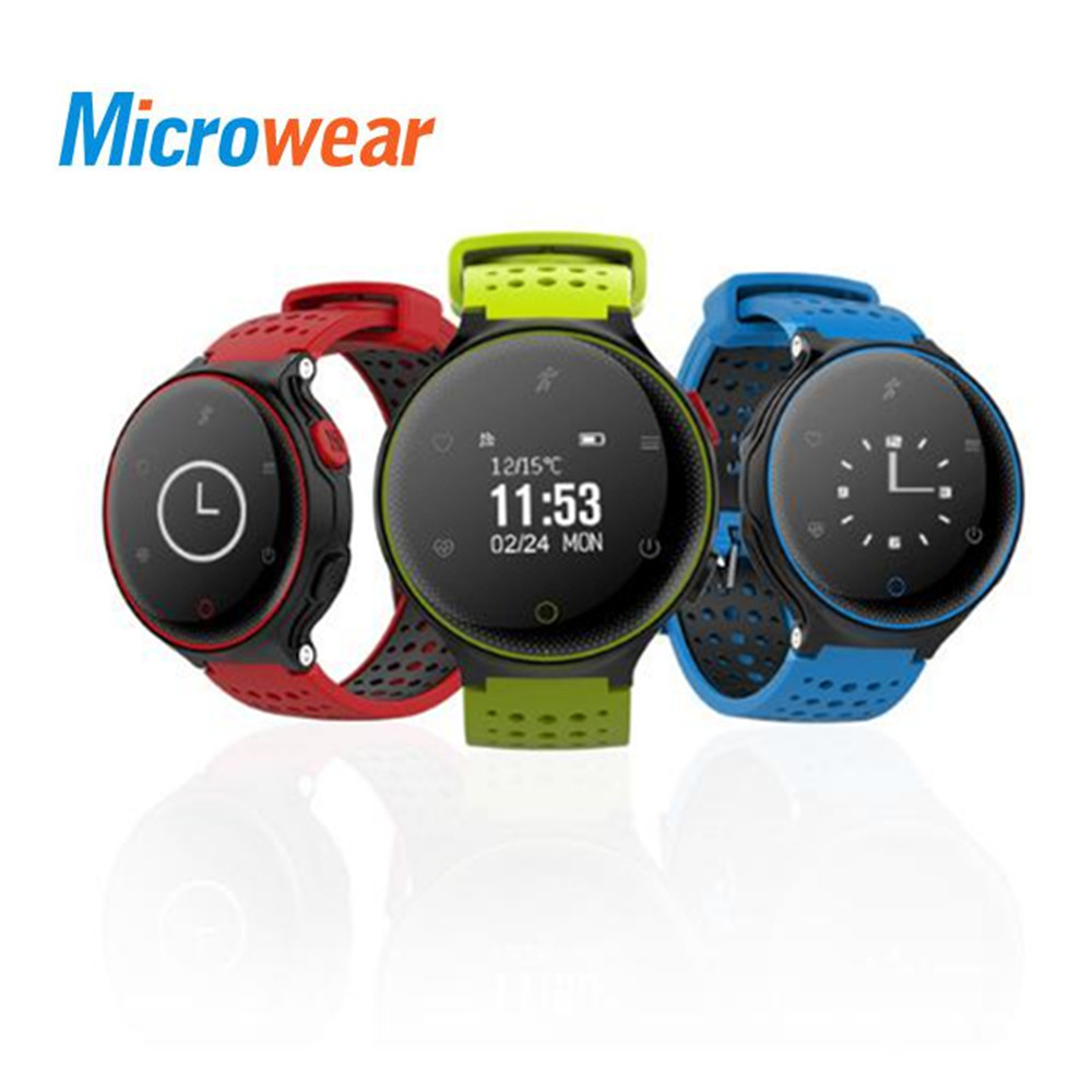 Microwear X2 Smartwatch Bluetooth 4.0 IP68 Waterproof Sedentary Reminder Sleep Heart Rate Monitor Pedometer Wearable Devices стоимость