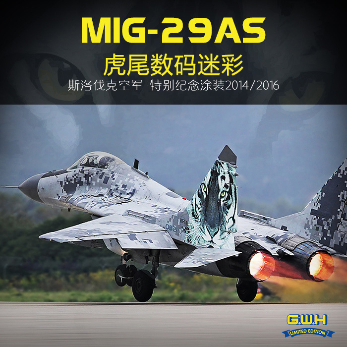 GREATWALL G W H S4809 1 48 Scale MiG 29AS Slovak Air Force 2014 Sepcial Painting