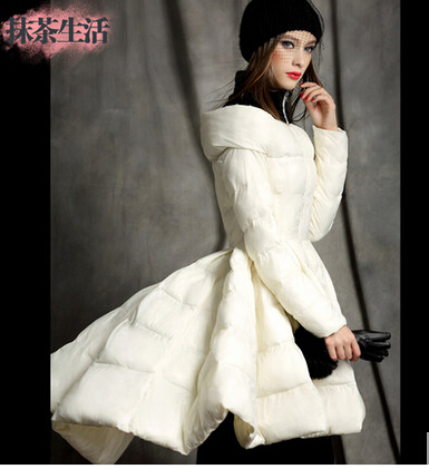 2016 Winter jacket women down coat fashion expansion bottom womens medium-long down coats slim Outerwear downs parka jackets