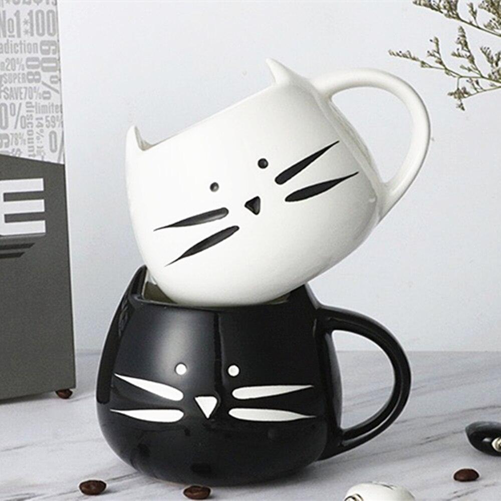 세라믹 귀여운 고양이 머그잔 커피 우유 머그잔 핸들 400ml 크리 에이 티브 동물 티 컵 아침 식사 Drinkware 참신 멋진 선물 Dropship
