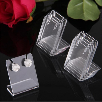 Wholesale Price Pendants Display Acrylic For Women Earrings Storage Show 43*35mm Transparent Jewelry Stand