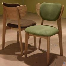Китайский ясень твердый обеденный стул из дерева Западный Стул кофейное кресло молочный чай рожок стул бабочка стул для обсуждения